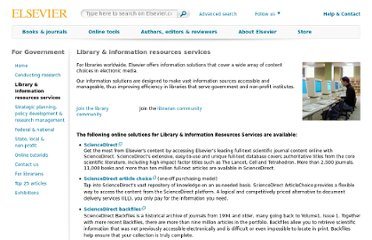 http://www.elsevier.com/government/library-and-information-resources-services