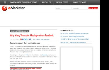 http://www.emarketer.com/Article/Why-Many-Teens-Moving-on-Facebook/1007808