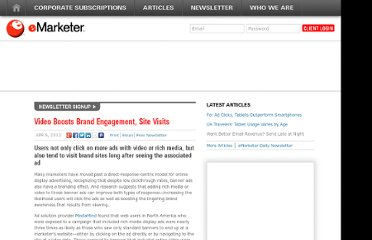http://www.emarketer.com/Article/Video-Boosts-Brand-Engagement-Site-Visits/1008957