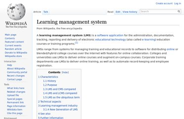http://en.wikipedia.org/wiki/Learning_management_system