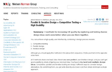 http://www.nngroup.com/articles/parallel-and-iterative-design/