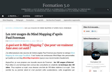 http://format30.com/2010/04/06/les-100-usages-du-mind-mapping-dapres-paul-foreman/