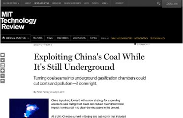 http://www.technologyreview.com/news/424613/exploiting-chinas-coal-while-its-still-underground/#.ThxATZuCOwc.twitter