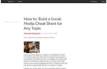 http://readwrite.com/2009/01/09/how_to_build_a_social_media_cheat_sheet
