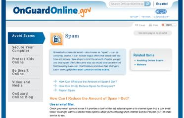 http://www.onguardonline.gov/articles/0038-spam