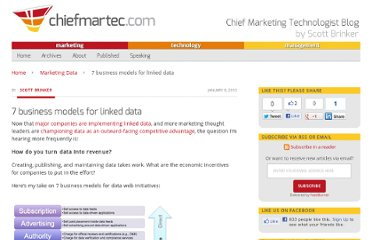 http://chiefmartec.com/2010/01/7-business-models-for-linked-data/