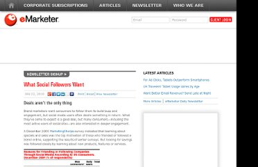 http://www.emarketer.com/Article/What-Social-Followers-Want/1007476