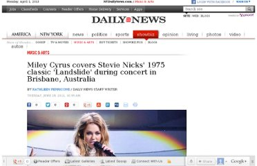 http://www.nydailynews.com/entertainment/music-arts/miley-cyrus-covers-stevie-nicks-1975-classic-landslide-concert-brisbane-australia-article-1.131925