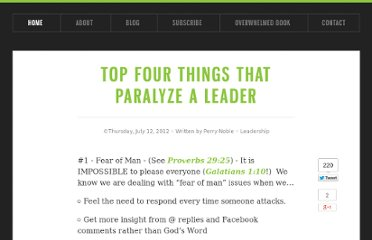 http://www.perrynoble.com/blog/top-four-things-that-paralyze-a-leader/