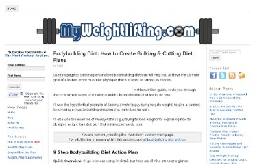 http://www.myweightlifting.com/bodybuilding-diet/