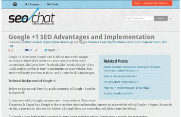 http://www.seochat.com/c/a/search-engine-optimization-help/google-1-seo-advantages-and-implementation/