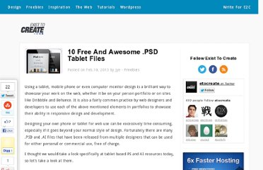 http://existtocreate.com/10-free-and-awesome-psd-tablet-files/