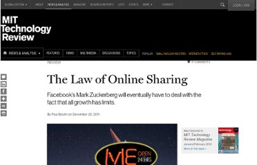 http://www.technologyreview.com/review/426438/the-law-of-online-sharing/