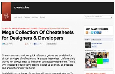 http://spyrestudios.com/mega-collection-of-cheatsheets-for-designer-developers/#others