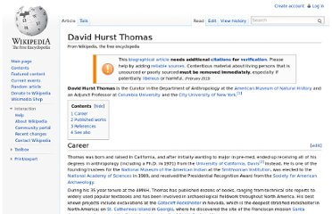 http://en.wikipedia.org/wiki/David_Hurst_Thomas