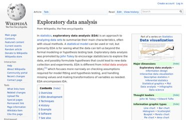 http://en.wikipedia.org/wiki/Exploratory_data_analysis