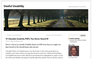 http://www.usefulusability.com/15-valuable-usability-pdfs-you-never-heard-of/