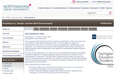 http://www.ntu.ac.uk/adbe/news_events/aae_conference/index.html