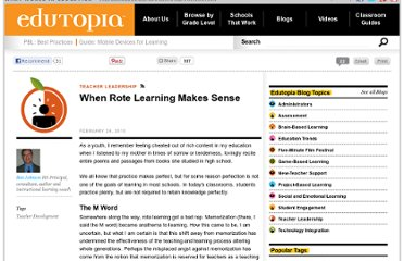 http://www.edutopia.org/rote-learning-benefits