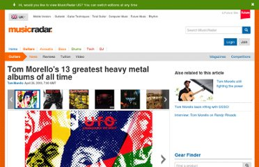 http://www.musicradar.com/news/guitars/tom-morellos-13-greatest-heavy-metal-albums-of-all-time-248502