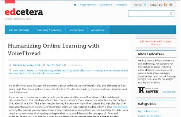 http://edcetera.rafter.com/humanizing-online-learning-with-voicethread/