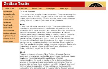 http://zodiacsigntraits.com/taurus-female-personality-traits.html