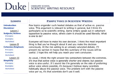 https://cgi.duke.edu/web/sciwriting/index.php?action=passive_voice