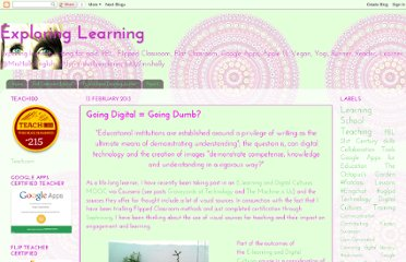http://mrshollyexploringlearning.blogspot.com/2013/02/going-digital-going-dumb.html