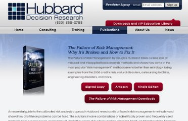 http://www.hubbardresearch.com/the-failure-of-risk-management/