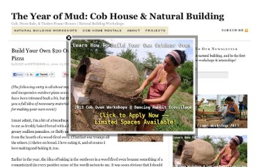 The Year of Mud: Cob House & Natural Building