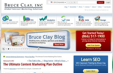 http://www.bruceclay.com/blog/2013/02/marketing-plan-outline/
