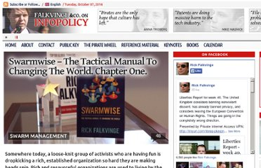 http://falkvinge.net/2013/02/14/swarmwise-the-tactical-manual-to-changing-the-world-chapter-one/