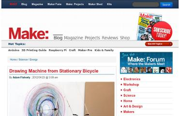 http://blog.makezine.com/2012/04/23/drawing-machine-from-stationary-bicycle/