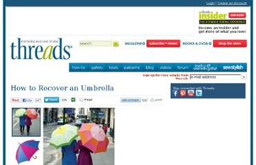 http://www.threadsmagazine.com/item/10563/how-to-recover-an-umbrella