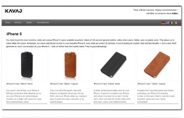 http://kavaj.com/iphone-5-cases/