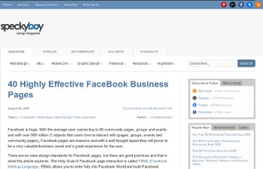 http://speckyboy.com/2010/08/15/40-highly-effective-facebook-business-pages/