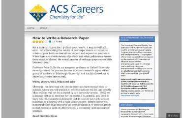 http://acscareers.wordpress.com/2013/02/11/how-to-write-a-research-paper/