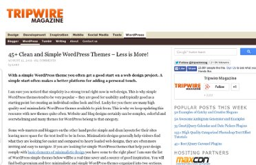 http://www.tripwiremagazine.com/2013/02/simple-wordpress-themes.html