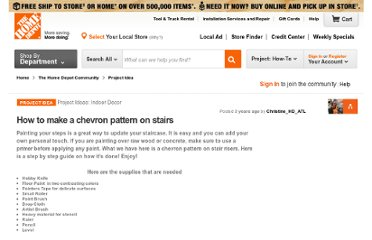http://community.homedepot.com/t5/Indoor-Decor/How-to-make-a-chevron-pattern-on-stairs/td-p/42337#M812