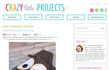 http://crazylittleprojects.com/2012/10/owl-hooded-towels.html