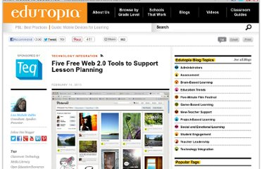 http://www.edutopia.org/blog/five-free-web-2.0-tools-lisa-dabbs