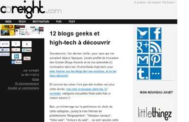 http://m.coreight.com/content/12-blogs-geek-web-et-high-tech-a-decouvrir