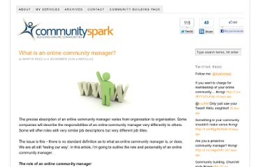http://www.communityspark.com/what-is-an-online-community-manager/