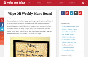 http://www.makeandtakes.com/wipe-off-weekly-menu-board