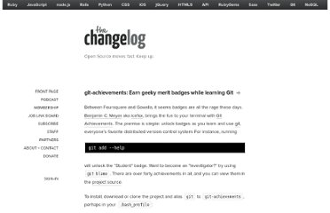 http://thechangelog.com/git-achievements-aquire-achievements-while-using-git/