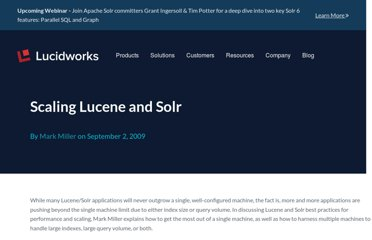 http://searchhub.org/2009/09/02/scaling-lucene-and-solr/