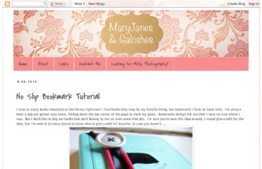 http://www.maryjanesandgaloshes.com/2010/08/no-slip-bookmark-tutorial.html