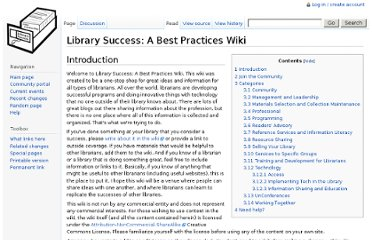 http://libsuccess.org/Library_Success:_A_Best_Practices_Wiki