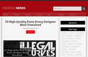 http://creativenerds.co.uk/freebies/50-high-quality-fonts-every-designer-must-download/