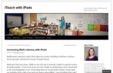http://iteachwithipads.net/2013/02/15/increasing-math-literacy-with-ipads/